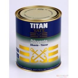 Diluyente Titan Yate 1l.